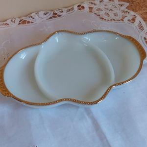 Vintage Fireking Milkglass Dish